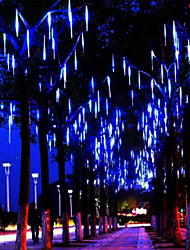 cheap -Meteor Shower Rain LED Tube String Light 30cm x 16 Tubes 384 LEDs Falling Rain Drop Icicle Christmas Wedding Garden Garland Waterproof Decorative Light