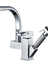 cheap -Kitchen faucet - Single Handle One Hole Multi-Ply Pull-out / Pull-down Other Contemporary Kitchen Taps