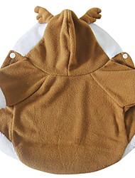 Недорогие -Собаки Костюмы Плащи Зима Одежда для собак Хаки Костюм Полиэстер Однотонный Олень Косплей Рождество XS S M L XL