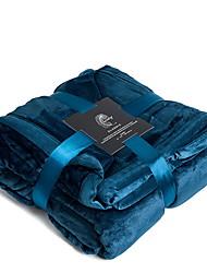 abordables -Bleu clair Couleur Pleine Corail Velve Velventine 1 PièceBedding Sets