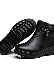 cheap -Women's Boots Rain Boots Flat Heel Round Toe PU Booties / Ankle Boots Winter Black / Brown