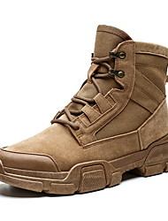 cheap -Men's Suede Shoes Suede Fall & Winter Boots Booties / Ankle Boots Black / Brown / Camel
