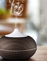 cheap -Remote Control Ultrasonic 150ml Air Humidifier Aroma Essential Oil Diffuser with Wood Grain 7 Color Changing LED Lights for Home
