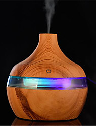 cheap -300ml Electric Humidifier Essential Aroma Oil Diffuser Ultrasonic Wood Grain Air Humidifier USB Mini Mist Maker LED Light For