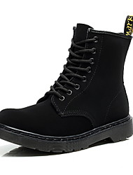 cheap -Men's Suede Shoes Suede Fall & Winter Boots Booties / Ankle Boots Black