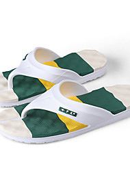 cheap -Men's Comfort Shoes Faux Leather Spring / Spring & Summer Casual Slippers & Flip-Flops Breathable Green / Blue