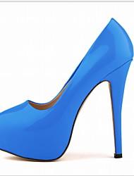 cheap -Women's Heels Stiletto Heel Round Toe PU Fall & Winter Black / Yellow / Green