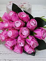Недорогие -искусственные розы цветы симуляция розы свадебные букеты поддельные цветочные розы цветы шелковые цветы ручной букет красных