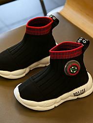رخيصةأون -للصبيان مريح حياكة أحذية رياضية الأطفال الصغار (4-7 سنوات) الركض أسود / أحمر الصيف