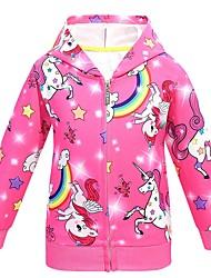 abordables -Enfants Fille Basique Arc-en-ciel Costume & Blazer Violet