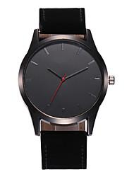 cheap -Men's Pocket Watch Quartz PU Leather Casual Watch Analog Fashion - Black Black / White White / Brown