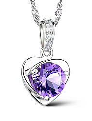 cheap -Pendant Necklace Women's Classic AAA Cubic Zirconia life Tree Classic Cute Purple Silver 45 cm Necklace Jewelry 1pc for Daily