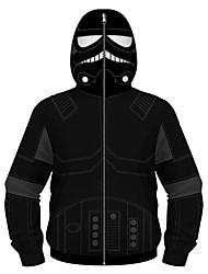 cheap -Kids Boys' Active Basic Black & Red Geometric Print Color Block Print Long Sleeve Hoodie & Sweatshirt Black