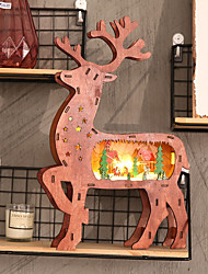 cheap -Holiday Decorations Christmas Decorations Christmas Lights / Christmas / Decorative Objects LED Light / Decorative / Novelty Brown 1pc