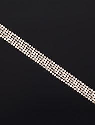 cheap -Women's Bracelet Layered Princess Simple Luxury European Fashion Elegant Rhinestone Bracelet Jewelry Gold For Wedding Party Engagement Gift Daily