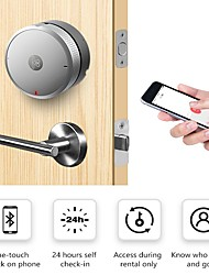 cheap -Airbnk M300 Smart Door Lock (Electronic Dead bolt Lock) Keyless Entry Work with iOS & amp;amp;Android Easy to Instll (Silver No Battery Include)
