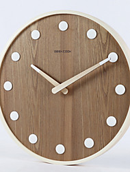 cheap -Modern Contemporary Wooden Round Indoor Battery Decoration Wall Clock Mirror Polished No