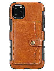 cheap -Case For Apple iPhone 11 / iPhone 11 Pro / iPhone 11 Pro Max Wallet / Card Holder / Shockproof Back Cover Solid Colored PU Leather / TPU
