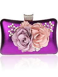cheap -Women's Crystals / Flower Alloy Evening Bag Floral Print Purple