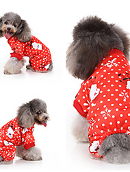 cheap -Dog Cat Vest Christmas Christmas Dog Clothes Red Costume Polyester Canvas Mixed Material S M L XL