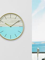 Недорогие -настенные часы, современный современный деревянный круглый