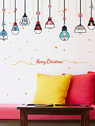 cheap -Beautiful Colored Christmas Chandeliers Wall Stickers - Landscape Wall Stickers / Plane Wall Stickers Characters Study Room / Office / Dining Room / Kitchen