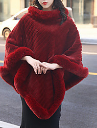 cheap -Sleeveless Capes Faux Fur / Imitation Cashmere Wedding / Party / Evening Women's Wrap With Fur