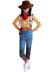 cheap -Toy Story Woody Outfits Men's Women's Movie Cosplay Halloween Yellow Christmas Halloween Carnival Elastane Polyster / Bell Sleeve