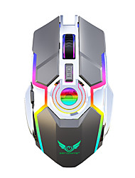 cheap -ZERODATE ZER-T30 Wireless 2.4G Optical Gaming Mouse / Rechargeable Mouse RGB Light 2400 dpi 3 Adjustable DPI Levels 7 pcs Keys