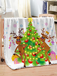 cheap -Christmas Festival Home Decorative Coral Fleece Blanket 100% Polyester Soft Bed Throw Blankets for Winter