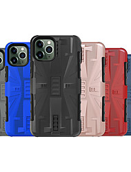 cheap -Case For Apple iPhone 11 / iPhone 11 Pro / iPhone 11 Pro Max Shockproof Back Cover Solid Colored TPU / Plastic