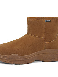 cheap -Men's Snow Boots Pigskin Winter Classic Boots Black / Yellow / Gray