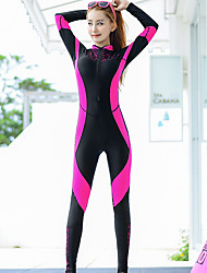cheap -MEIYIER Women's Rash Guard Dive Skin Suit Elastane Diving Suit Quick Dry Full Body Front Zip - Swimming Diving Water Sports Patchwork Spring &  Fall Summer / High Elasticity