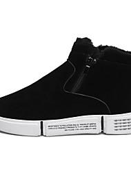 cheap -Men's Snow Boots PU Winter Classic Boots Black / Gray