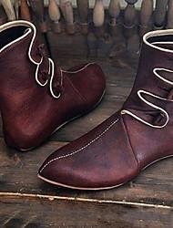 cheap -Men's Boots Cowboy Boots Combat Boots Daily PU Mid-Calf Boots Black Burgundy Winter