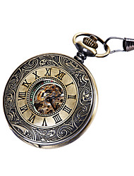 cheap -Men's Pocket Watch Mechanical manual-winding Vintage Style Vintage Hollow Engraving Analog - Digital Bronze / Large Dial