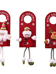 cheap -3 Piece Christmas Hanging For Hanging Door Christmas Ornaments