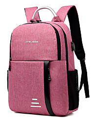 cheap -Waterproof Polyester Pattern / Print / Zipper Commuter Backpack Letter Climbing Black / Blushing Pink / Blue