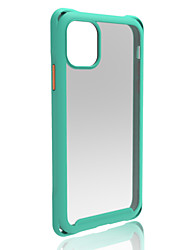 cheap -Case For Apple iPhone 11 / iPhone 11 Pro / iPhone 11 Pro Max Shockproof Back Cover Solid Colored PC / Silica Gel