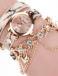 cheap -Women's Quartz Watches New Arrival Fashion Red Green Yellow PU Leather Chinese Quartz Champagne Yellow Red Cute New Design Casual Watch 1 pc Analog One Year Battery Life