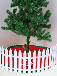 cheap -White Plastic Anti-UV Home Ornaments Decoration Pastoral Christmas Tree Fence White Plastic Fence DIY Splicing Garden Decorative Fences Trellis 10Pcs