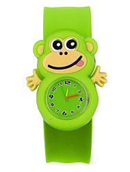 cheap -Kids Sport Watch Quartz Animal Pattern Silicone Green No Chronograph Cute Creative Analog Cartoon New Arrival - Green One Year Battery Life