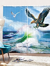 cheap -Flying Eagle Digital Printing 3D Curtain Shading Curtain High Precision Black Silk Fabric High Quality Curtain