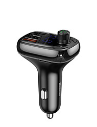 cheap -Baseus T typed Wireless MP3 charger with car holderPPS Quick ChargerBlack