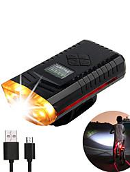 Недорогие -Светодиодная лампа Велосипедные фары Передняя фара для велосипеда огни безопасности Велоспорт Велоспорт Портативные Регулируется Прочный Легкость 500 lm USB слот Белый