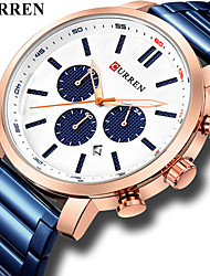 cheap -CURREN Men's Dress Watch Quartz Black / Blue / Silver 30 m Calendar / date / day Creative Casual Watch Analog Classic Fashion - Black Black / Rose Gold White