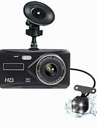 Недорогие -T672 двойной объектив мини-видеорегистратор fhd 1080p 4 ips-экран DVR вид сзади две камеры видеорегистратор приборная панель авто запись видео ночная версия