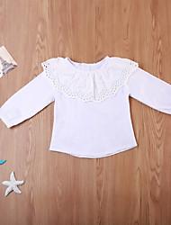 preiswerte -Baby Mädchen Freizeit / Aktiv Blumen / Solide Druck Langarm Lang Kleidungs Set Weiß