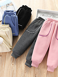 cheap -Kids Girls' Basic Solid Colored Pants Black