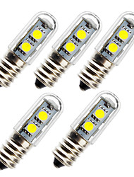 cheap -5pcs 1 W LED Corn Lights 45 lm E14 7 LED Beads SMD 5050 Decorative 180-240 V
